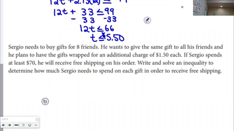 Thumbnail for entry Inequalities (NOTES 9-7)