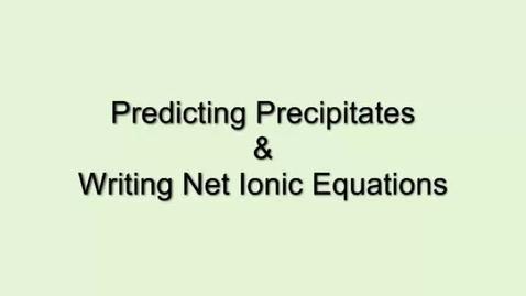Thumbnail for entry Precipitates