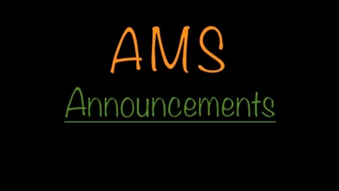 Thumbnail for entry AMS Morning Announcements for 10/28/13