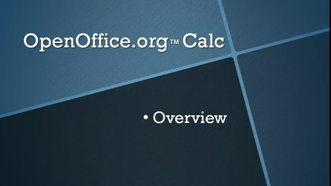Thumbnail for entry An Overview of OpenOffice.org™ Calc