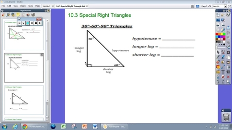 Thumbnail for entry 36-60-90 Triangles Basics