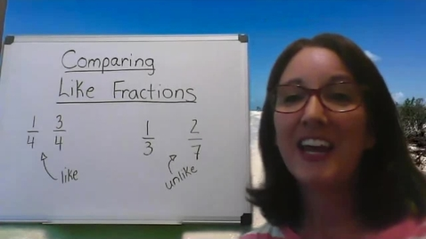 Thumbnail for entry Comparing and Ordering Like Fractions