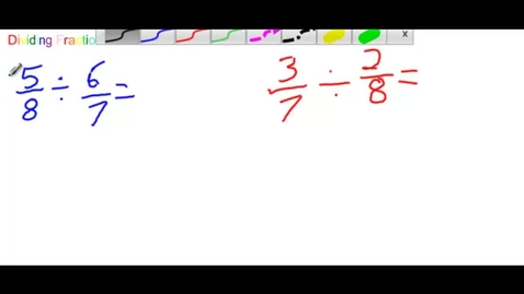 Thumbnail for entry Dividing Fractions with Ashley