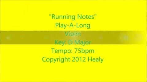 Thumbnail for entry Running Notes Play Along - Violin