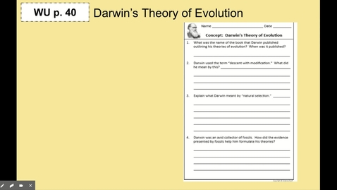 Thumbnail for entry Evidence & Patterns of Evolution Notes