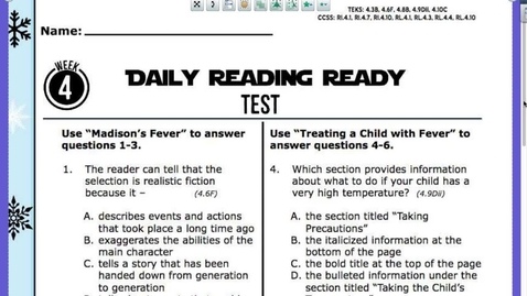Thumbnail for entry READING TEST Questions and Answers