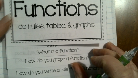 Thumbnail for entry Graphing Functions and Function Rules