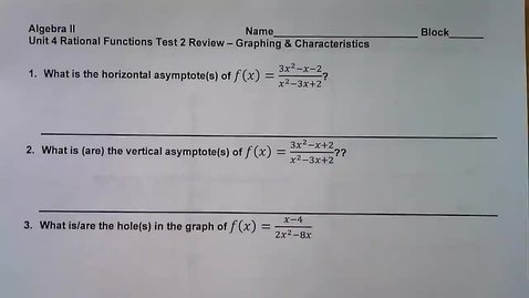 Thumbnail for entry Unit 4 Test 2 Review