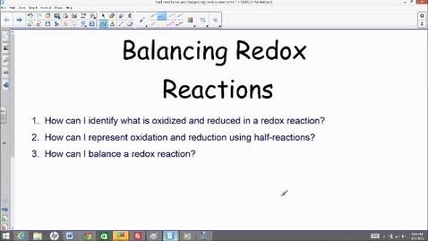 Thumbnail for entry balancing redox reactions