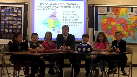 Thumbnail for entry Lonnie Quinn 112211 2nd Grd Montebello Students Weathercast