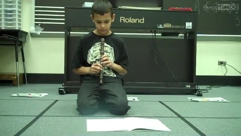 """Thumbnail for entry Adam P. playing """"Boat Song"""" in Mrs.Hendrix music class, Dabbs Elementary, 2011"""