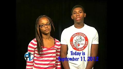 Thumbnail for entry Tuesday, September 11, 2012