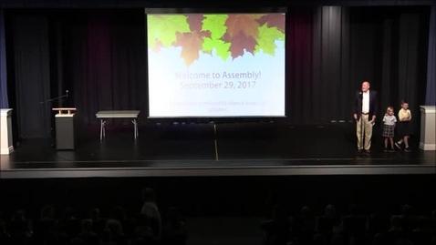 Thumbnail for entry Assembly - September 29, 2017