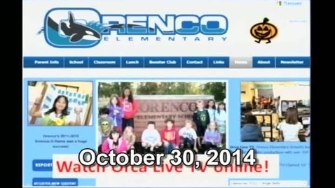 Thumbnail for entry Orca Live October 30, 2014
