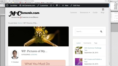 Thumbnail for entry WP: Pictures of My…