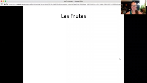 Thumbnail for entry Las frutas - mini lesson with Profe