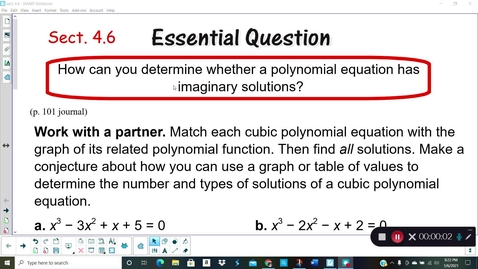 Thumbnail for entry Alg 2 Sect. 4.6 (part 1)