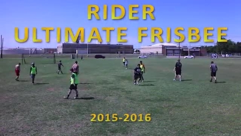 Thumbnail for entry Ultimate Frisbee