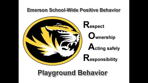 Thumbnail for entry School-Wide Positive Behavior at Emerson: Playground