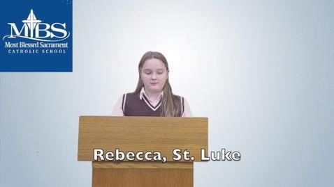Thumbnail for entry Rebecca_St Luke