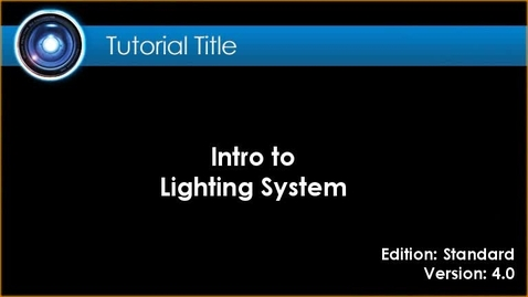 Thumbnail for entry iClone Tutorial - Lighting Systems