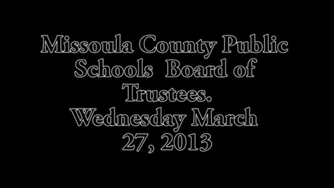 Thumbnail for entry MCPS Personnel, Negotiations and Policy Committee, March 27, 2013