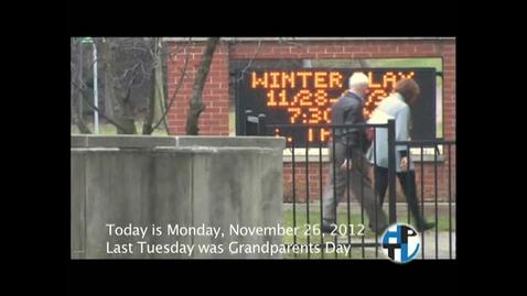 Thumbnail for entry Monday,  November 26, 2012