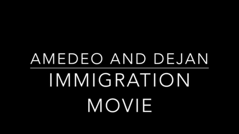 Thumbnail for entry Amedeo and Dejan Immigration Interview
