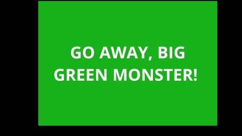 Thumbnail for entry Go Away Big Green Monster Read Aloud