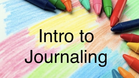 Thumbnail for entry Intro to Journaling