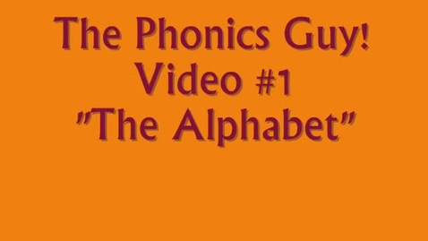 Thumbnail for entry The Alphabet