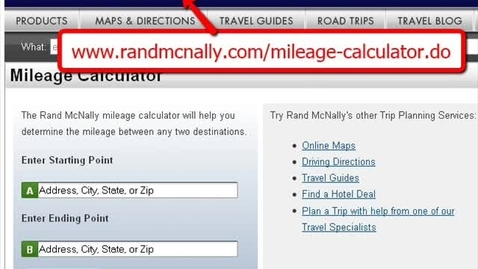 Thumbnail for entry mileage calculator