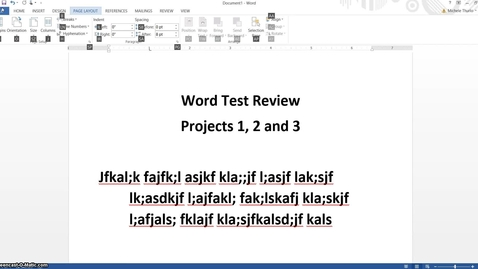 Thumbnail for entry Word Test Review 4