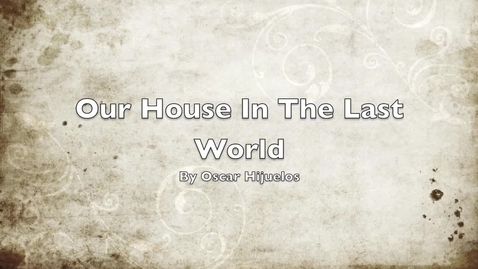 Thumbnail for entry Our House In The Last World book trailer