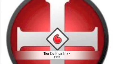 Thumbnail for entry Ku Klux Klan imovie project