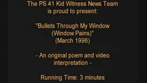 """Thumbnail for entry (1996) KWN """"Bullets Through My Window"""""""