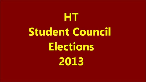 Thumbnail for entry Hickory Tavern Student Council Elections 2013