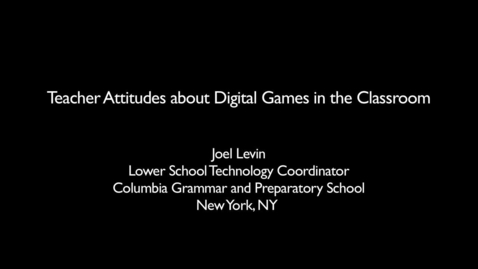 Thumbnail for entry Teaching with Games: GLPC Case Study: Joel