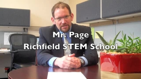 Thumbnail for entry Mr. Page speaks about testing