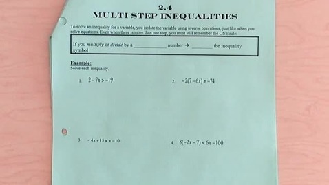 Thumbnail for entry Multi-Step Inequalities