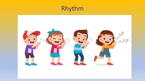 Thumbnail for entry 1st  & 2nd Grade  Rhythm 1 Video