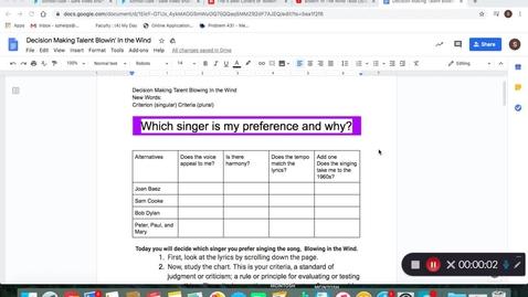 Thumbnail for entry Decision Making Worksheet