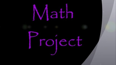 Thumbnail for entry Math Project by Pria