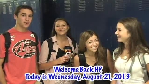 Thumbnail for entry Wednesday, August 21, 2013