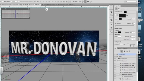 Thumbnail for entry 3d Type Adding Color