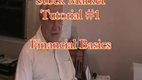 """Thumbnail for entry Stock Market Tutorial #1 Financial Basics """"Learn to invest"""""""