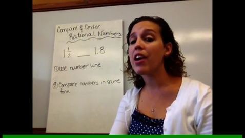 Thumbnail for entry Pre-Alg - Sect 1-5 Compare & Order Rational Numbers