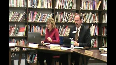Thumbnail for entry November 8th 2012 School board meeting