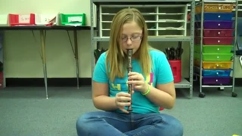 Thumbnail for entry Kaitlyn Mc., recorder solo 2011, Dabbs Elementary