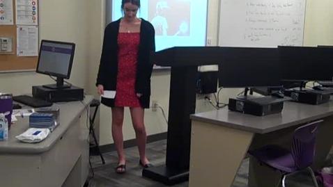 Thumbnail for entry Brooke Grissom Final Speech